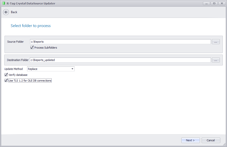 R-Tag DataSource Updater for Crystal Reports