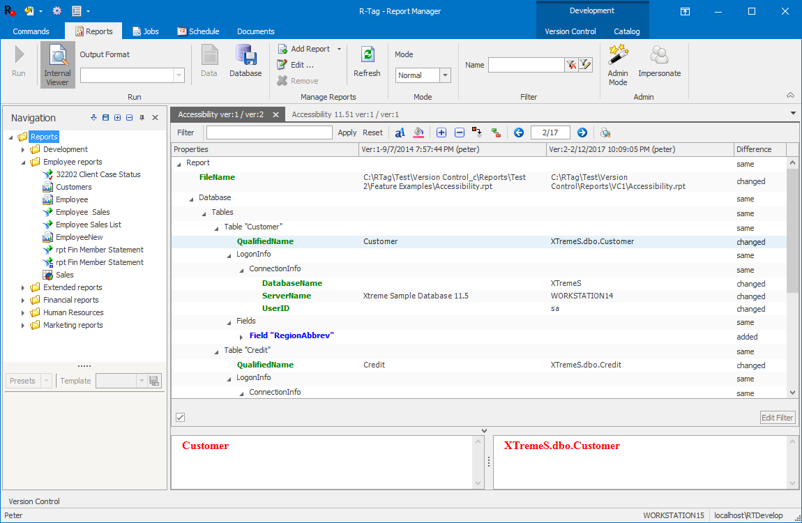 R-Tag Crystal Reports Version Control